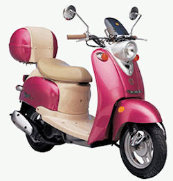 49cc scooters may be the traditional engine size, but they make much bigger scooter engines these days!