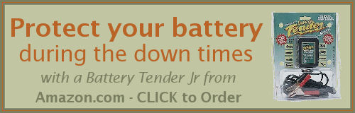 Get the Battery Tender Jr from Amazon to protect your scooter battery