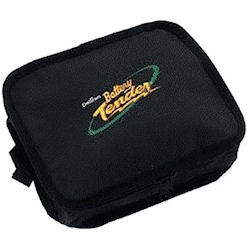 A motorcycle battery tender uitlity bag