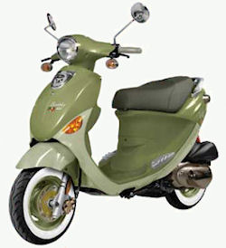 Road scooters like the Genuine Buddy are both fun and economical, not to mention good for the environment