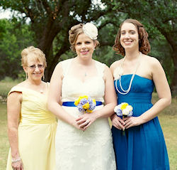 Kathi MacNaughton, Jenn Hunt and Sarah Collins - me and my two daughters