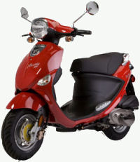 red Genuine Buddy scooter
