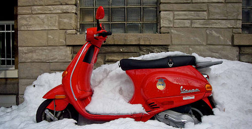 Winterize your scooter