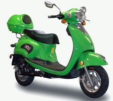 Zapino brand of an electric motor scooter