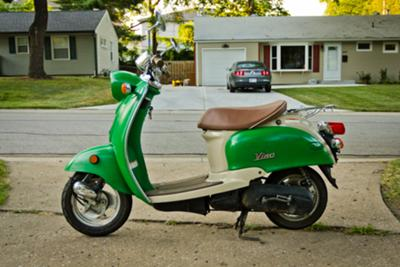 My little green Yamaha Vino scooter