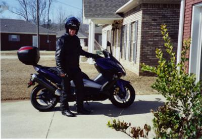 Me on my Yamaha Tmax scooter