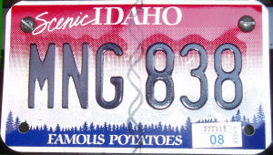 idaho license plate for scooters