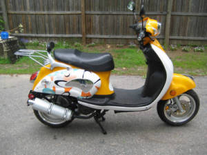 My Lifan 150cc scooter