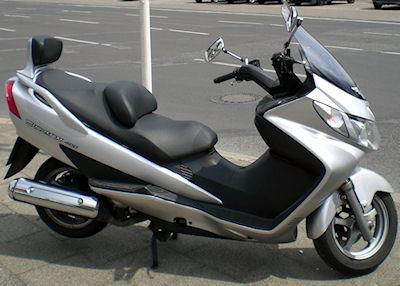 A Suzuki Burgman 400 Scooter