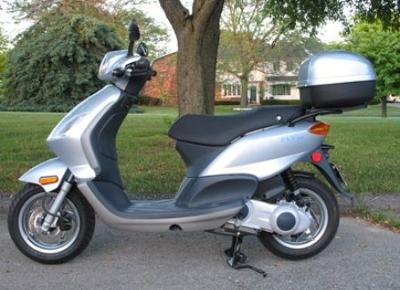 A Piaggio Fly Scooter