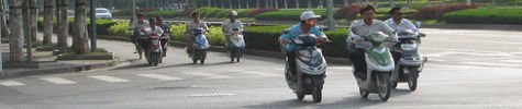 Scooter commuters ride all engine sizes from 49cc motor scooter to 250cc scooter and more