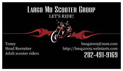 Largo Maryland Scooter Group Logo