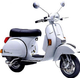 Picture of a Vespa Scooter