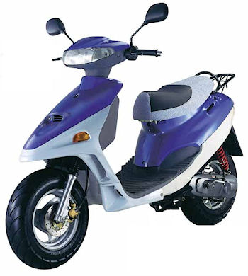 An Adly Jet Scooter