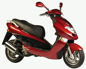 A Kymco Bet and Win scooter