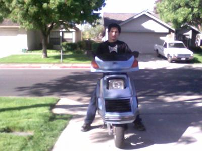 Me sitting on my Honda Elite