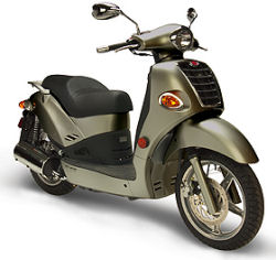 A Kymco People 250S Scooter