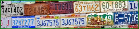 license plates banner