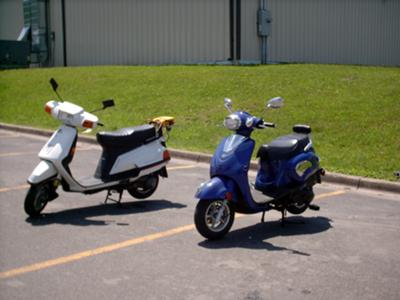 Two Asian Scooters