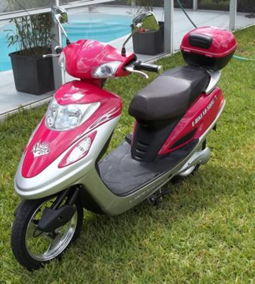 My wife's X-Treme electric scooter